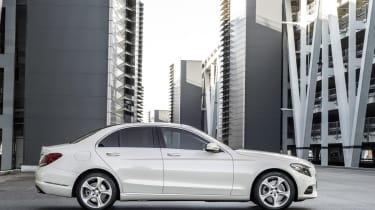 Mercedes C-Class 2014 white side