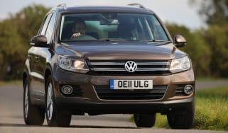 Volkswagen Tiguan front cornering