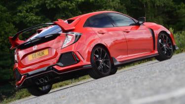 UK Honda Civic Type R 2017 - rear static