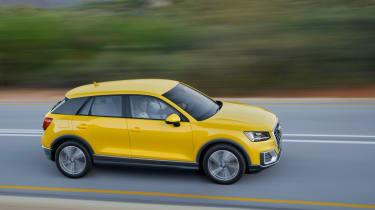 Audi Q2 Yellow side