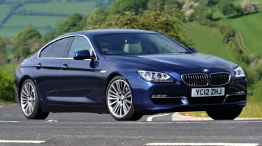 BMW 640d Gran Coupe side tracking