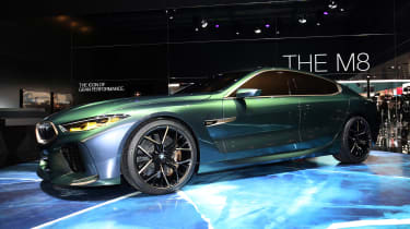 BMW M8 Gran Coupe - Geneva front/side