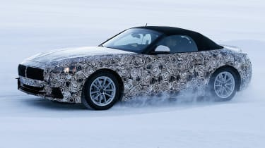 BMW Z4 spy shot side
