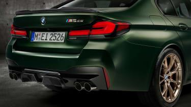 BMW M5 CS - studio rear detail