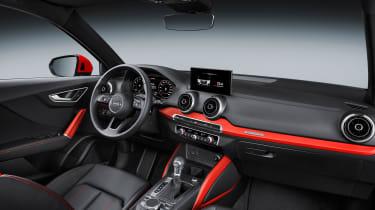 Audi Q2 red cabin side