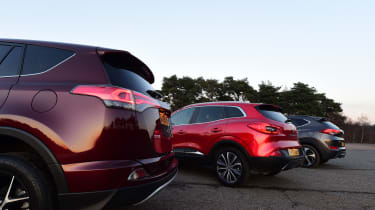 Toyota RAV4 vs Renault Kadjar vs Hyundai Tucson - design