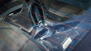 New Honda NSX 2015 white engine