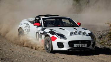 Jaguar F-Type rally car - front action