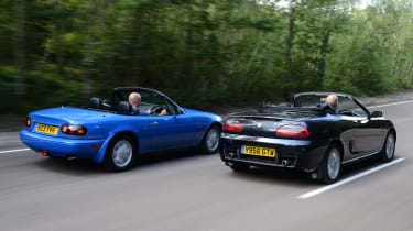 MGF vs Mazda MX-5: modern classic rear head-to-head
