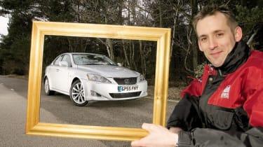 Picture frame around Lexus IS250