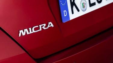 Nissan Micra Xtronic - Micra badge