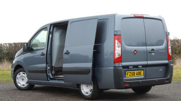 The Scudo comes with two sliding doors as standard.