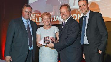 Linda Jackson - getting award
