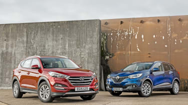 Hyundai Tucson vs Renault Kadjar - group test front