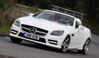 Mercedes SLK 250 front cornering