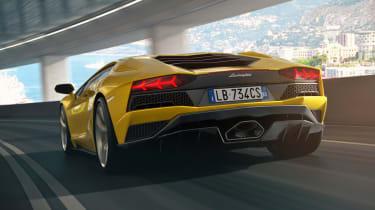 Lamborghini Aventador S - rear tracking 2