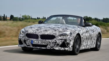 BMW Z4 prototype - front tracking