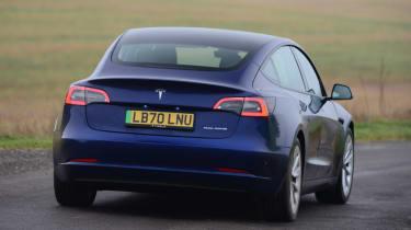 Tesla Model 3 Long Range - rear cornering