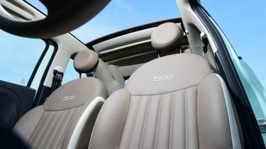 Fiat 500C 2015 seats