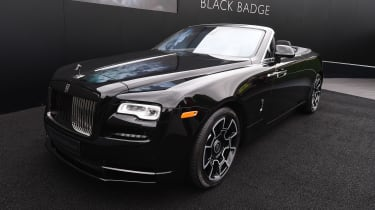 The convertible Rolls-Royce Dawn has been given the Black Badge treatment, and it was on show at Goodwood this year.