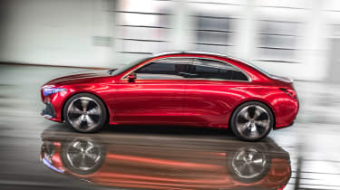 Mercedes Concept A Sedan - side action