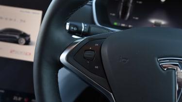Tesla Model S P100D - steering wheel