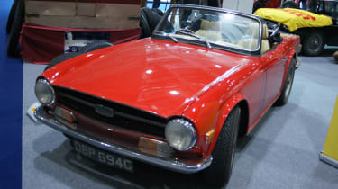 Triumph TR6 at the London Classic Car Show