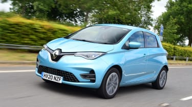Renault Zoe driving