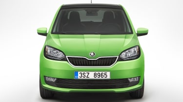 Skoda Citigo facelift 2017 - green front end