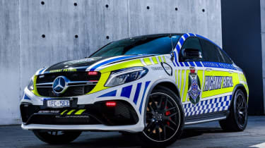 Mercedes GLE Coupe Police Car