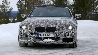 BMW 4 Series Convertible spies - front winter