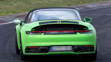Porsche 911 Targa spies - rear