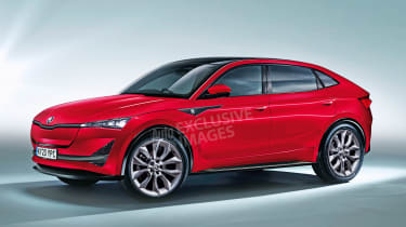 Skoda Vision E - front (watermarked)