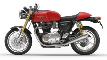 Triumph Thruxton R review - red side