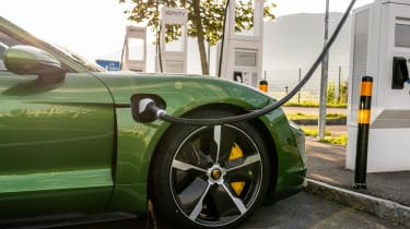 Porsche Taycan Turbo S - charging