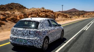 New Volkswagen Polo 2017 prototype on the road