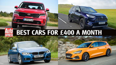 Best new cars for under £400 per month - header