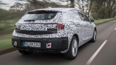 Vauxhall Astra prototype - rear tracking