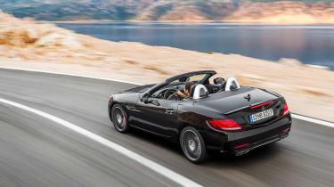 Mercedes SLC roadster - cornering