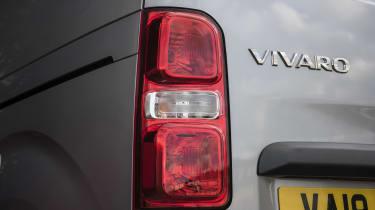 Vauxhall Vivaro van - rearlight