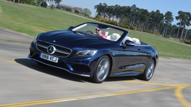 Convertible megatest - Mercedes S 500 Convertible - front tracking