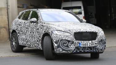 Jaguar F-Pace SVR spy shots front