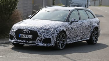 Audi RS4 Avant spies - front side