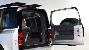 Land Rover Defender - studio rear door open