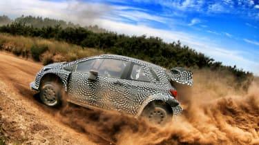 New Toyota Yaris WRC rally car test