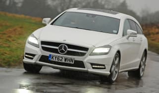 Mercedes CLS 350 CDI Shooting Brake front action