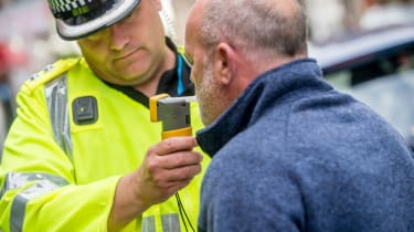 Breathalyser test drink driving