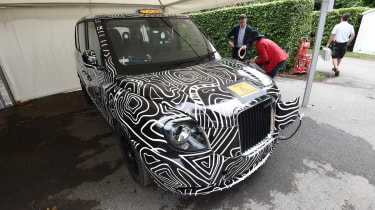 The new plug-in hybrid London Taxi also made its dynamic debut at the 2017 Goodwood show.