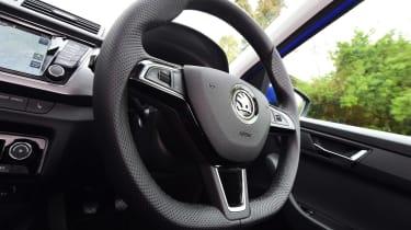 Skoda Fabia SE L: long-term test review - first report steering wheel