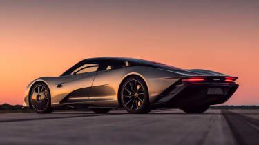 McLaren Speedtail - runway testing - rear 3/4 static